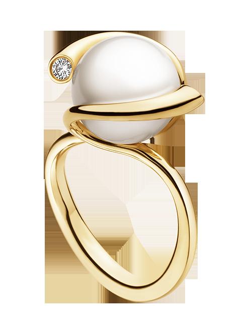 Δαχτυλίδι χρυσό18Κ με μαργαριτάρι South Sea   διαμάντια κοπής brilliant 977845481e5